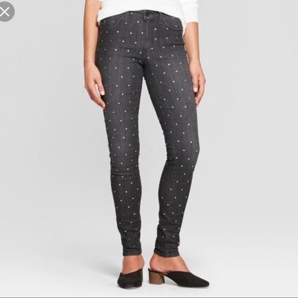 5224297b2e4 Universal Thread Jeans | Womens Midrise Micro Dot Skinny | Poshmark
